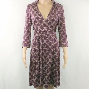 Diane Von Furstenberg DVF Womans Wrap Dress Size 8
